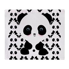 Cute Panda Bear Throw Blanket