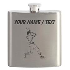Custom Baseball Batter Flask