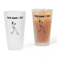 Custom Baseball Batter Drinking Glass