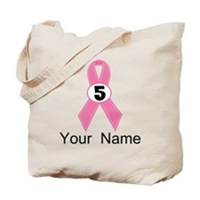 Breast Cancer 5 Year Survivor Tote Bag
