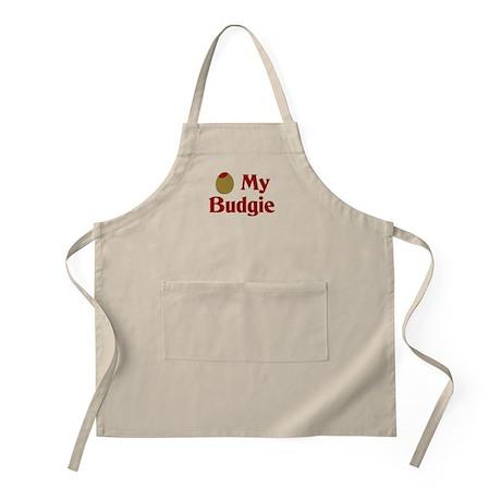 Olive (I Love) My Budgie BBQ Apron