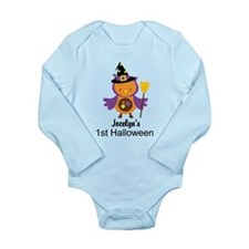 1st Halloween baby witch owl Body Suit