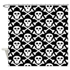 Skull and Crossbones Pirate Shower Curtain