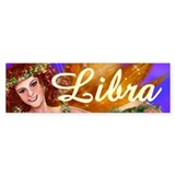 Goddess Libra Bumper Car Sticker