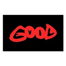 Good vs Evil ~ evil red Rectangle Decal
