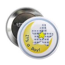 "Star and Moon It's a Boy 2.25"" Button (10 pack)"