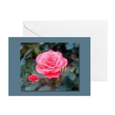 Pink Rose Greeting Cards (Pk of 10)