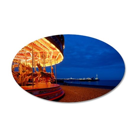 Brighton Pier Pro Photo 20x12 Oval Wall Decal