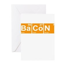 Bacon Elements Greeting Cards