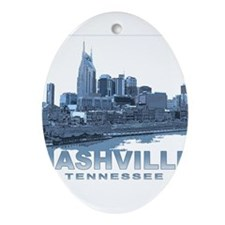 Nashville Tennessee Skyline Ornament (Oval)