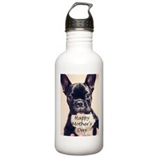 Happy Mother's Day French Bulldog Water Bottle
