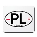 Poland Intl Oval Mousepad