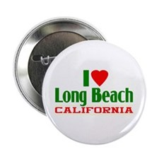 I Love Long Beach, California Button