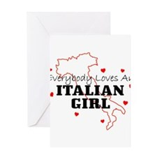italiangirl Greeting Cards