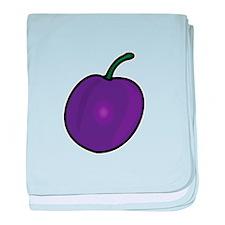 Plum baby blanket