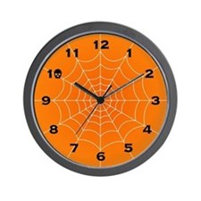 Halloween Spiderweb Wall Clock