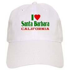 I Love Santa Barbara, California Baseball Cap