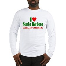 I Love Santa Barbara, California Long Sleeve T-Shi
