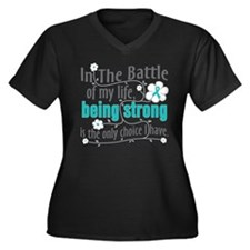 Gynecologic Women's Plus Size V-Neck Dark T-Shirt