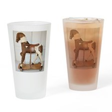 rare antique frenh hobbyhorse Drinking Glass
