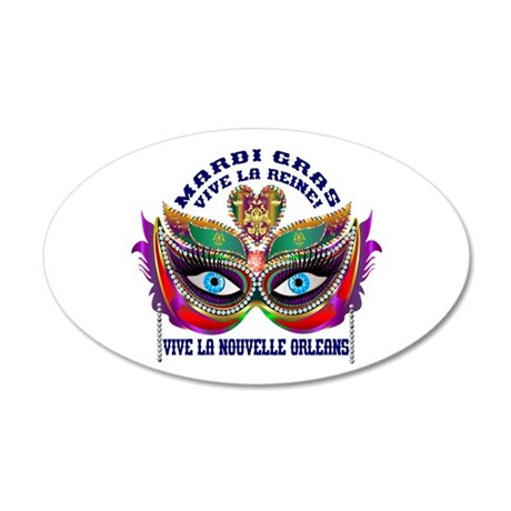 Mardi Gras Queen 10 20x12 Oval Wall Decal