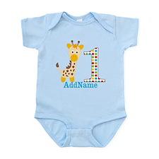 Giraffe First Birthday Infant Bodysuit