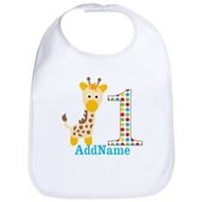 Giraffe First Birthday Bib