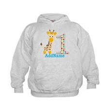 Giraffe First Birthday Hoody
