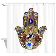 Hamsa Opal Design Shower Curtain