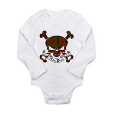 MacDuff Tartan Skull Long Sleeve Infant Bodysuit