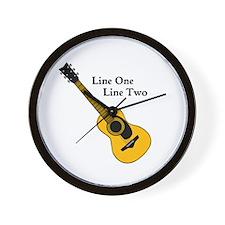 Custom Guitar Design Wall Clock