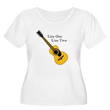Custom Guitar Design Plus Size T-Shirt