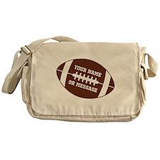 YOUR NAME Football Messenger Bag