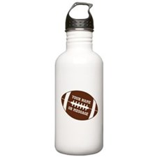 YOUR NAME Football Water Bottle