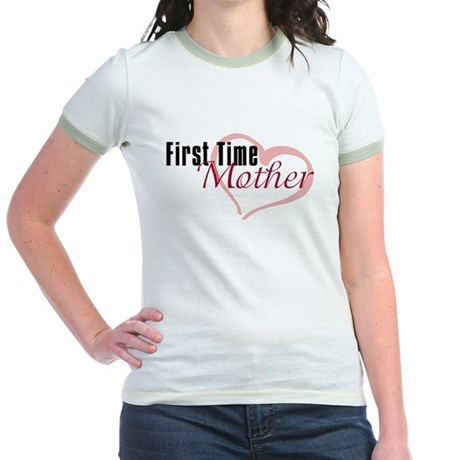 First Time Mom Jr. Ringer T-Shirt