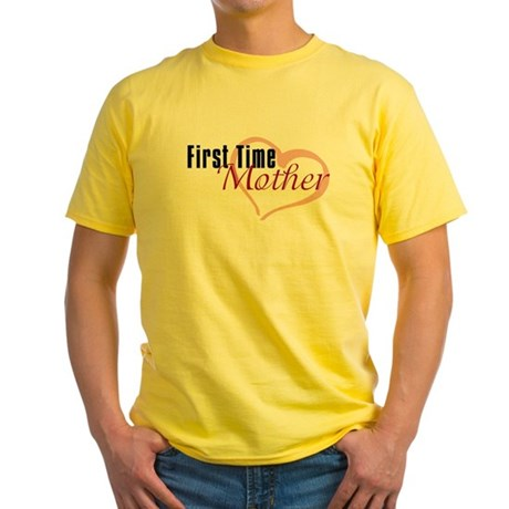 First Time Mom Yellow T-Shirt