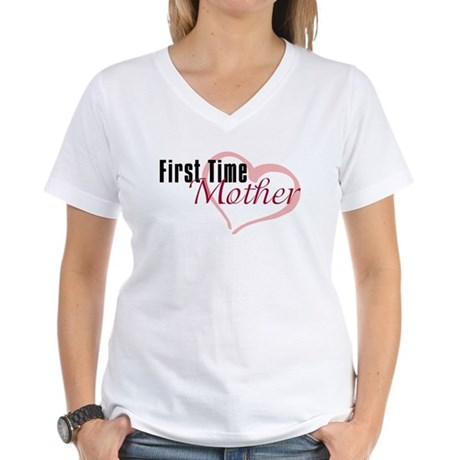 First Time Mom Women's V-Neck T-Shirt