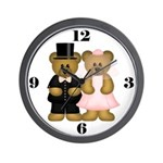 Bear Couple Wedding Clock