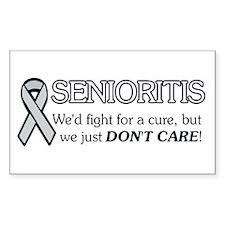 Senioritis Rectangle Decal