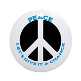 Peace - give it a chance #3 Ornament (Round)