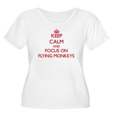 Keep Calm and focus on Flying Monkeys Plus Size T-