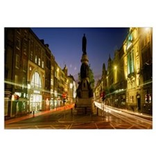 Statue Of A Man On A Pedestal On O'Connell Street,