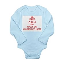 Keep Calm and focus on Largemouth Bass Body Suit