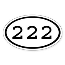 222 Oval Oval Decal