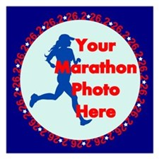 Marathon Runner Photo Invitations