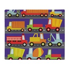 Trucks On The Highway Throw Blanket