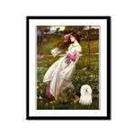 Windflowers & Bolognese Framed Panel Print