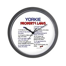 Yorkie Property Laws Wall Clock