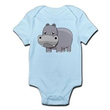 Cute Baby Hippo Body Suit