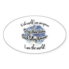 Toller World2 Oval Decal